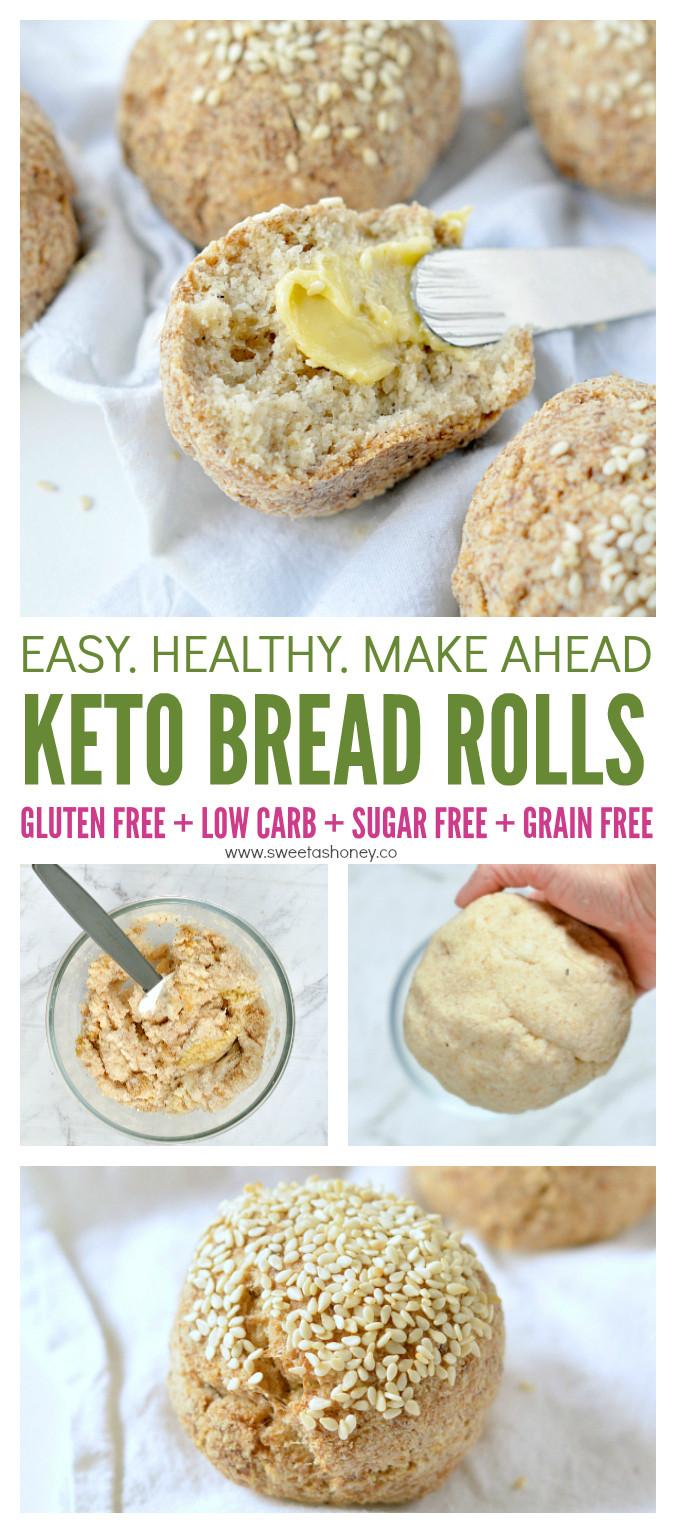 Vegan Keto Bread  Keto Bread Rolls Vegan No Eggs Sweetashoney