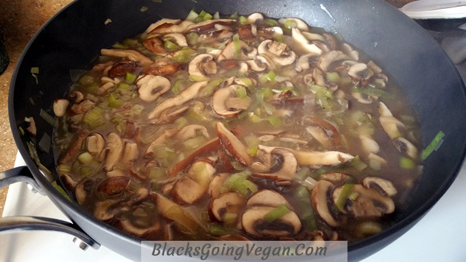 Vegan Leek Recipes  leek mushroom pasta 2 Blacks Going Vegan Blacks Going