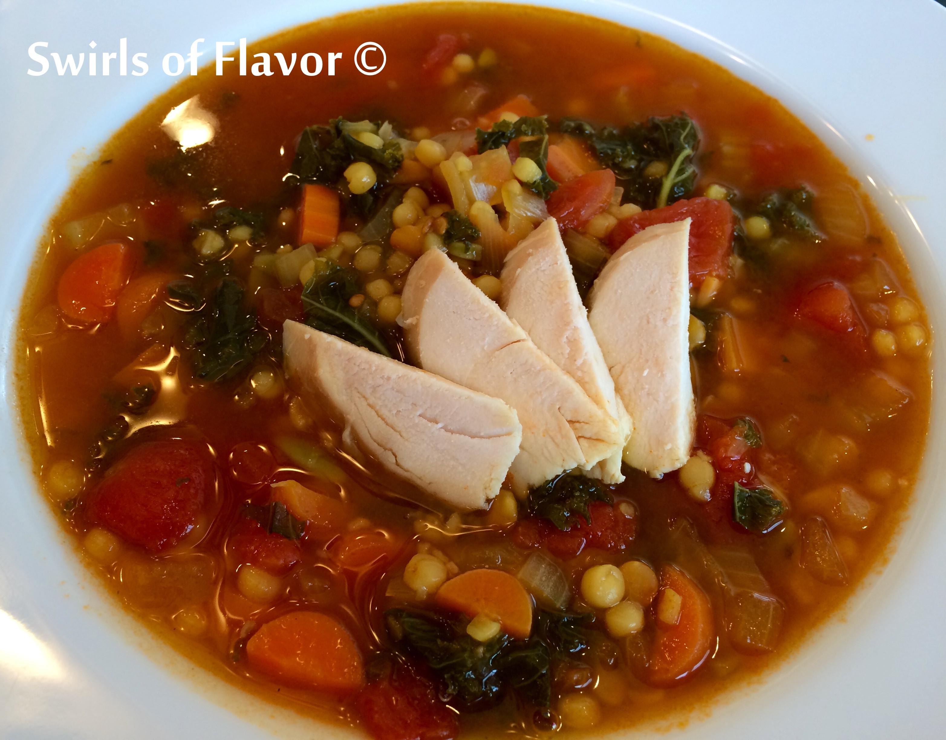 Vegan Lentil Quinoa Broth Bowl  Quinoa Lentil Broth Bowl Swirls of Flavor