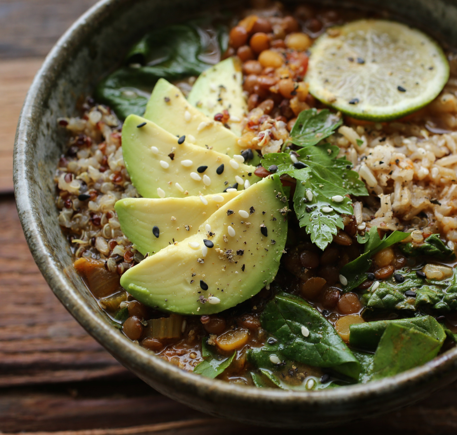 Vegan Lentil Quinoa Broth Bowl  Lentil Quinoa Soup Bowl – PETIT WORLD CITIZEN
