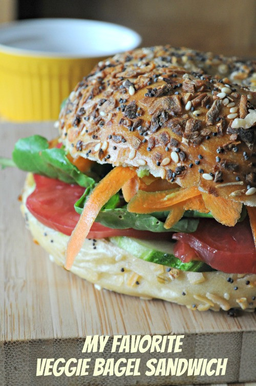 Vegan Options At Einstein Bagels  make ve arian bagel sandwich