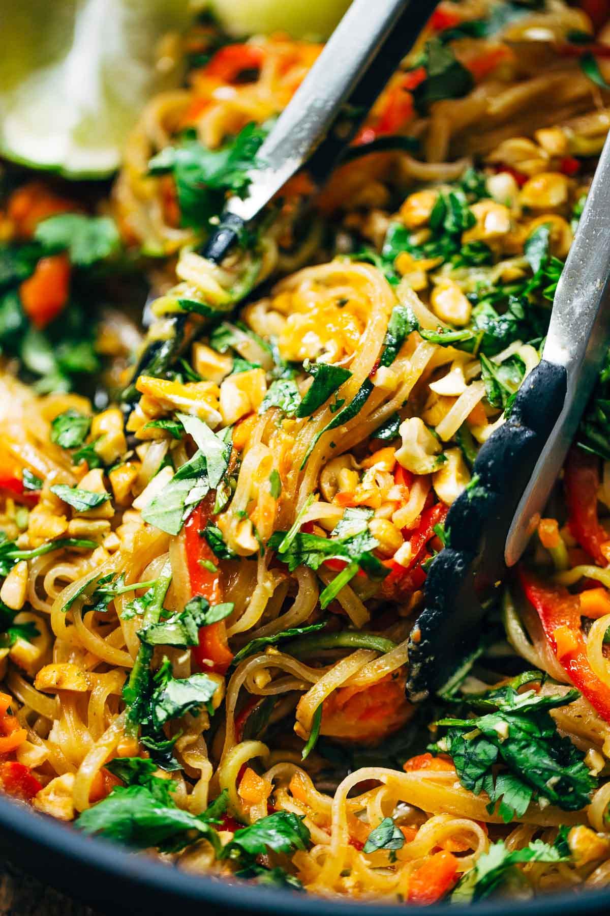 Vegan Pad Thai Recipes  Rainbow Ve arian Pad Thai with Peanuts and Basil Recipe