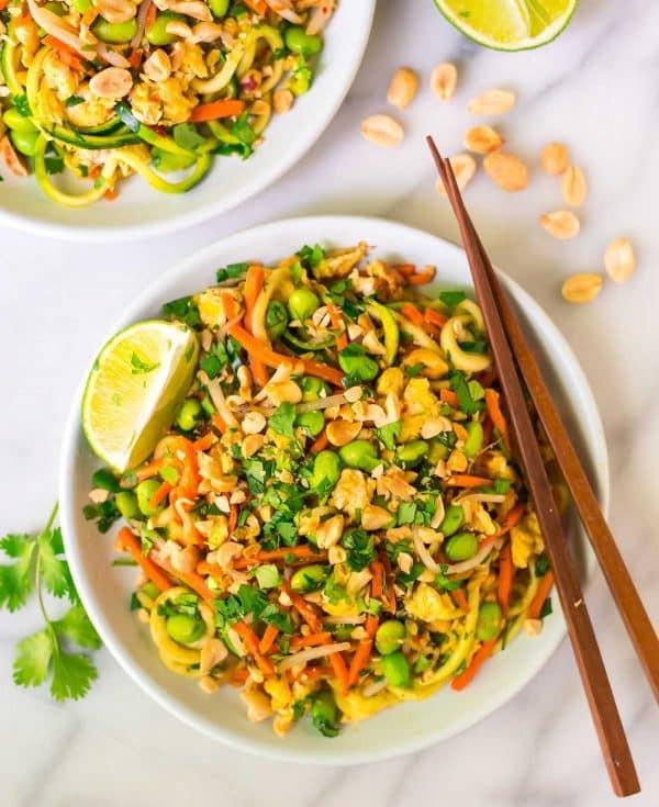 Vegan Pad Thai Recipes  Ve arian Pad Thai with Zoodles