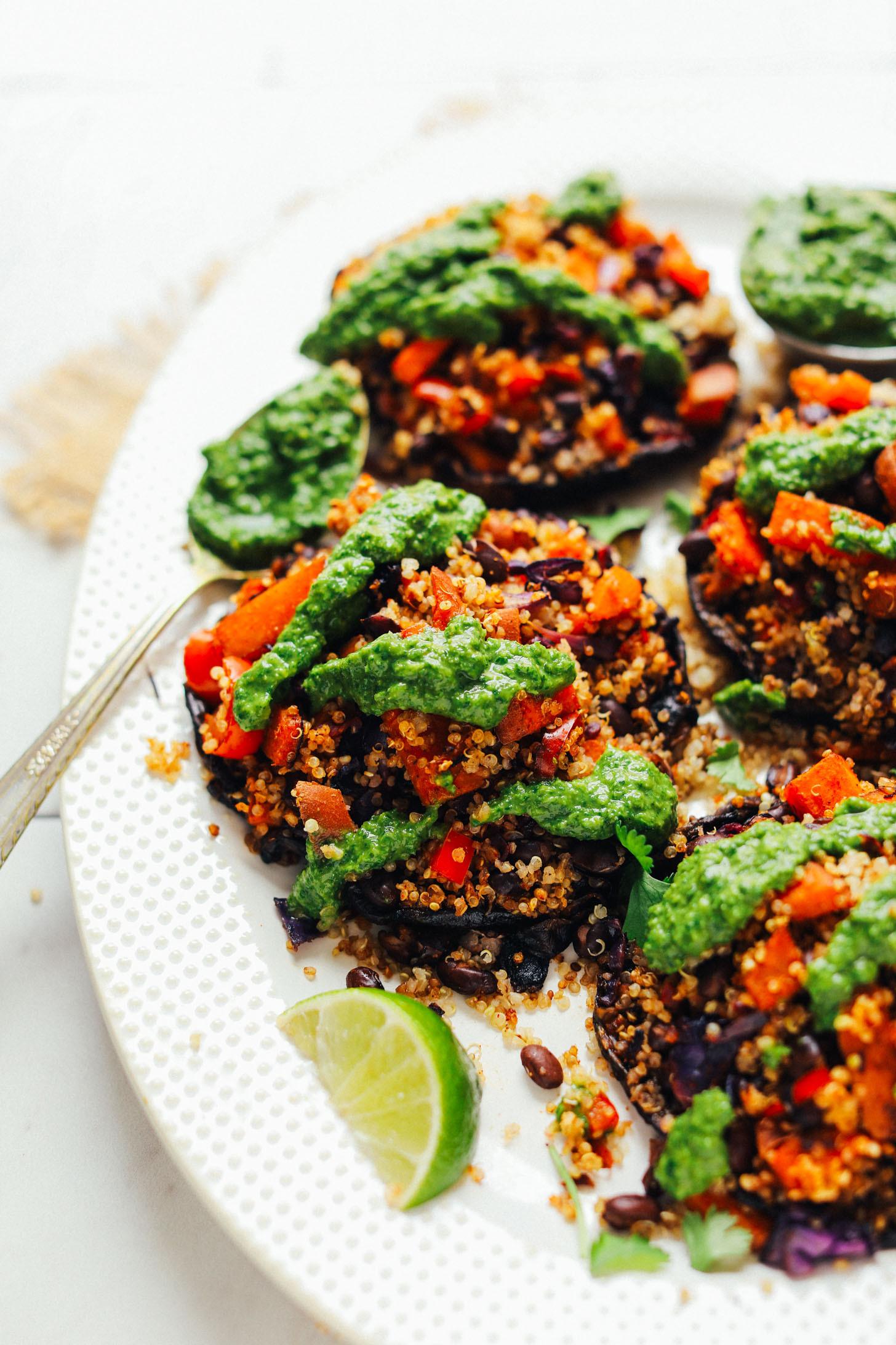 Vegan Portobello Recipes  Quinoa & Ve able Stuffed Mushrooms