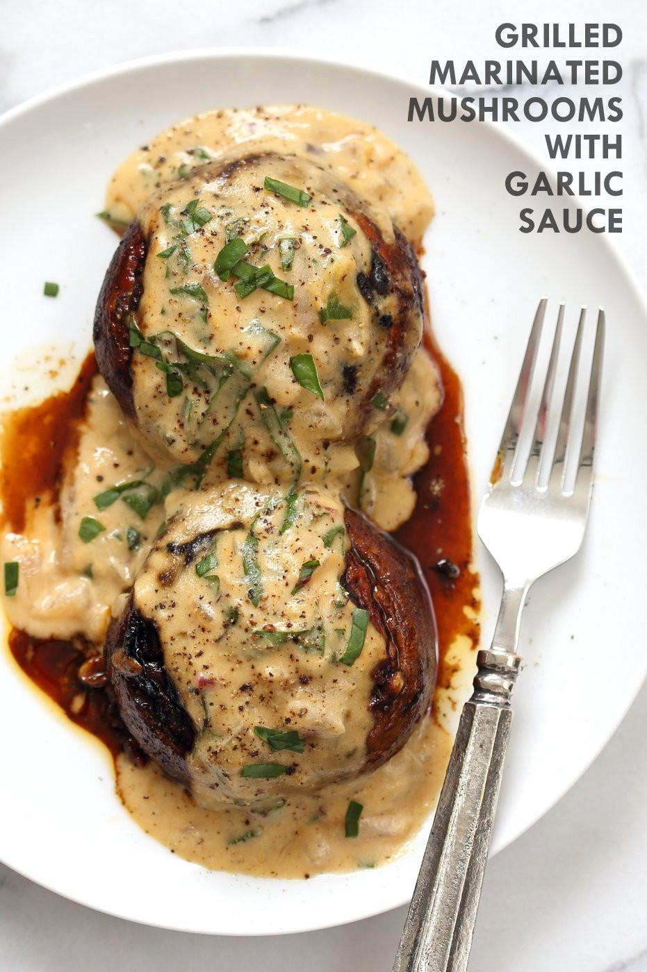 Vegan Portobello Recipes  Grilled Portobello Mushrooms with Garlic Sauce Vegan Richa