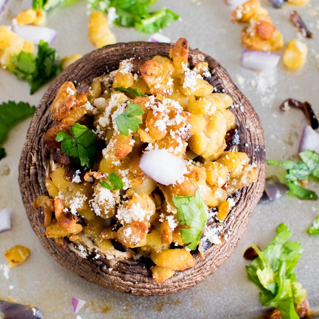Vegan Portobello Recipes  Vegan Cheese and Tempeh Stuffed Portobello Mushrooms