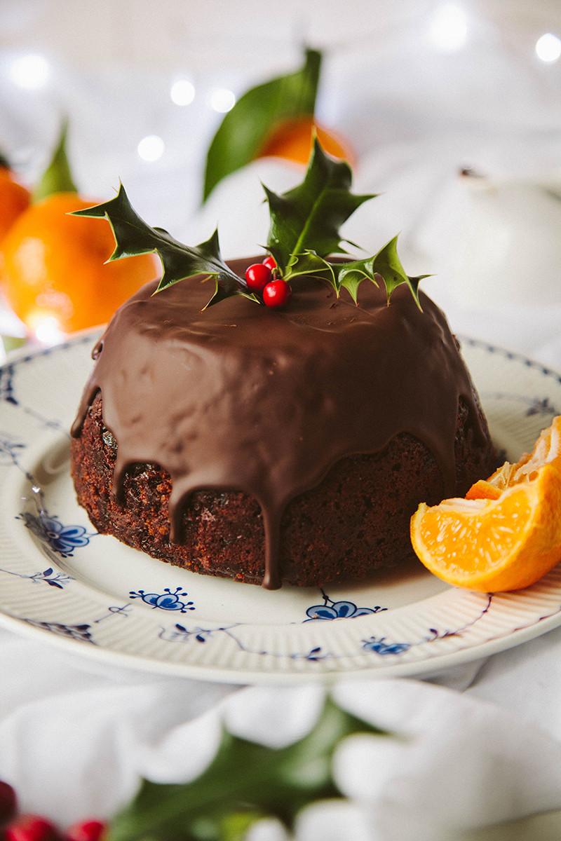 Vegan Puddings Recipes  Chocolate Orange Christmas Pudding Vegan Wallflower