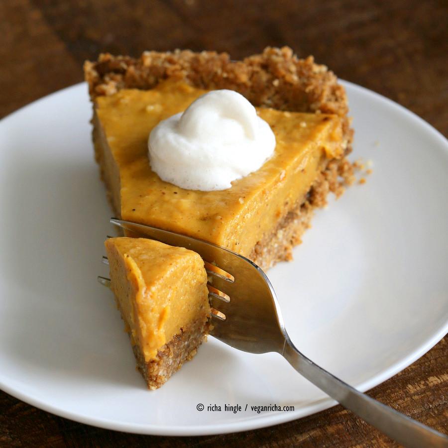 Vegan Pumpkin Desserts Recipes  No Bake Vegan Pumpkin Pie with Gluten free Gingerbread