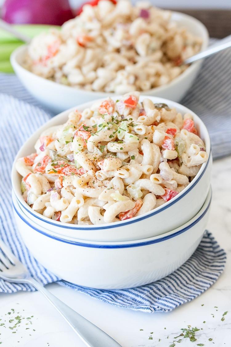 Vegan Recipes Healthy  Healthy Vegan Macaroni Salad Veggies Don t Bite