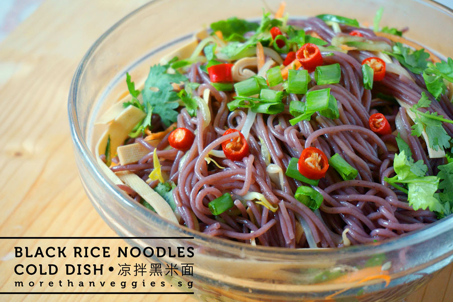 Vegan Rice Noodle Recipes  Cold Black Rice Noodles morethanveggies Vegan