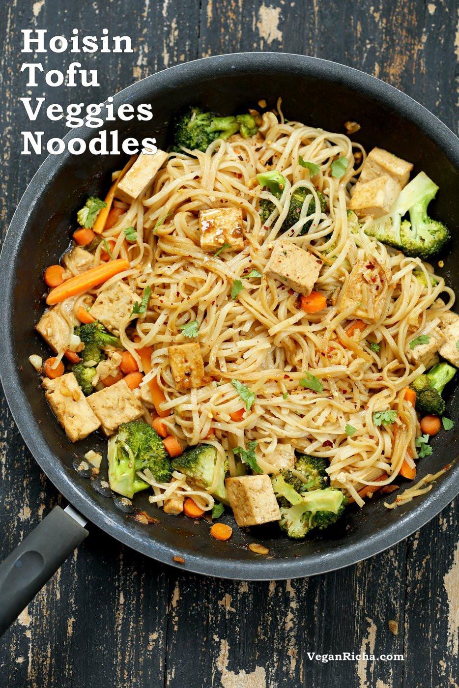 Vegan Rice Noodle Recipes  Tofu and Brown Rice Noodles in Hoisin Sauce Vegan Richa