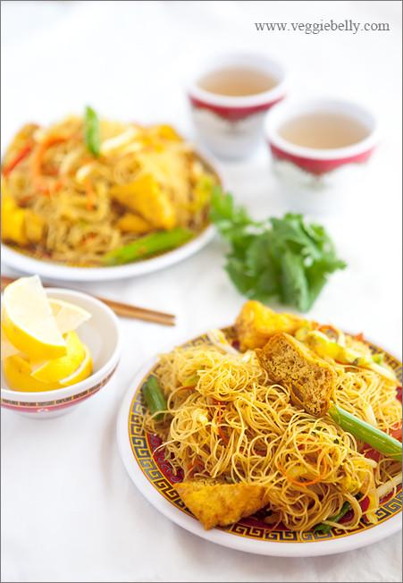 Vegan Rice Noodle Recipes  Singapore Rice Noodles Recipe Veggie Belly