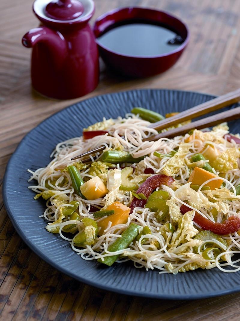 Vegan Rice Noodle Recipes  Szechuan Style Ve able Stir Fry with Rice Noodles Recipe