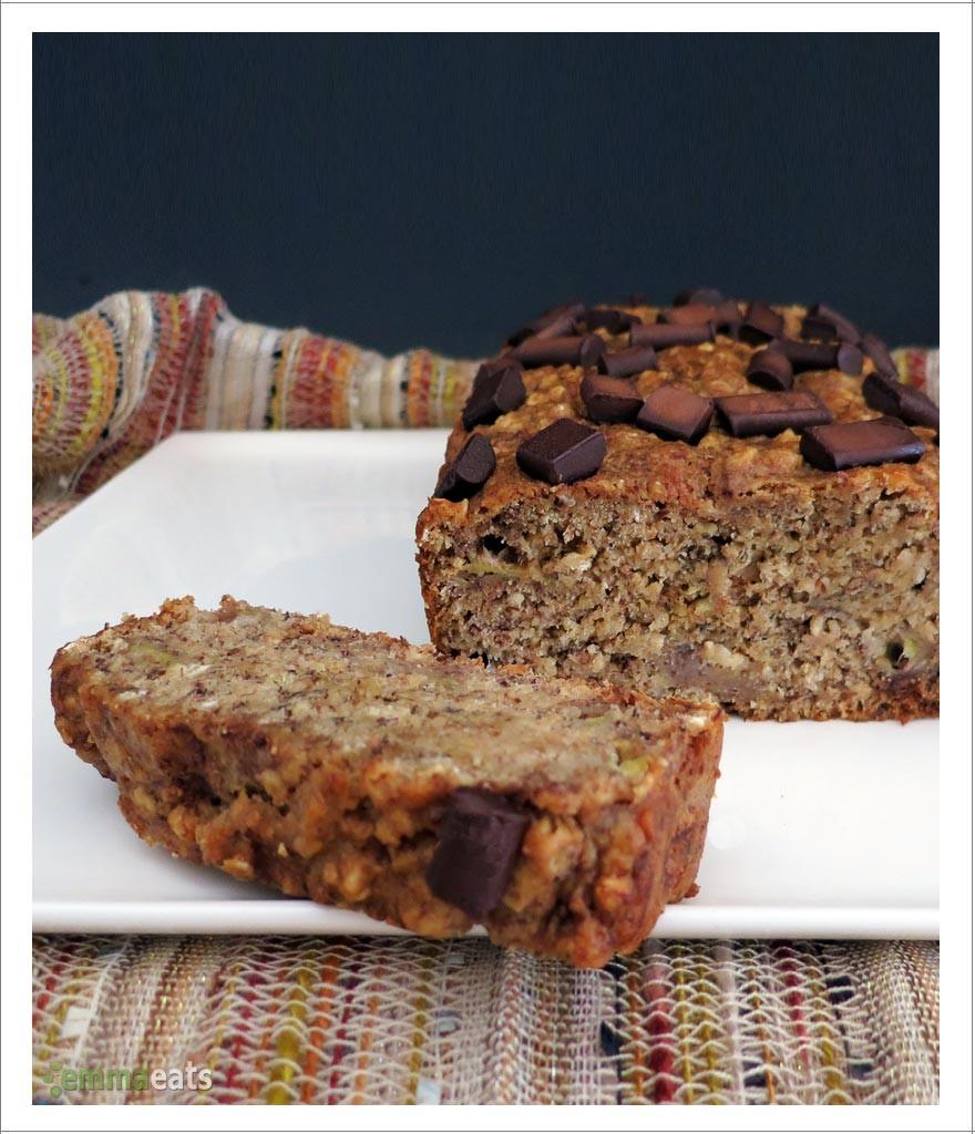 Vegan Spelt Bread Recipe  Oatmeal Spelt Banana Bread 2 ways [Vegan or Dairy Free