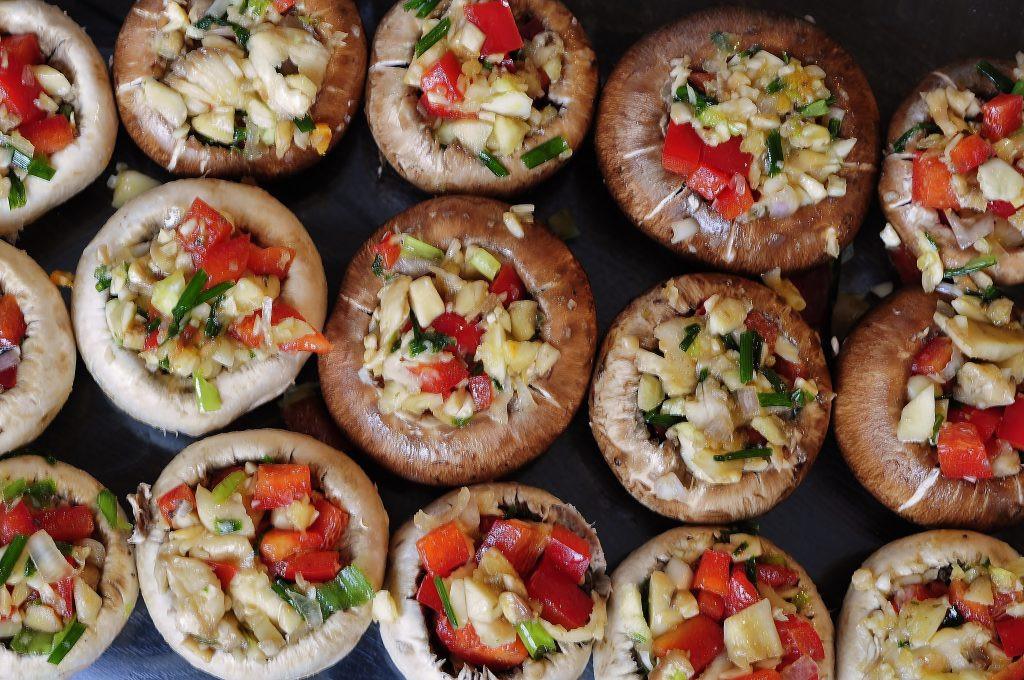 Vegan Stuffed Mushrooms Recipes  Ve able and Garlic Stuffed Mushrooms Vegan Family Recipes