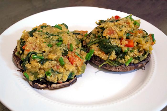 Vegan Stuffed Mushrooms Recipes  Healthy Dinner Vegan Quinoa Stuffed Portobello Mushrooms