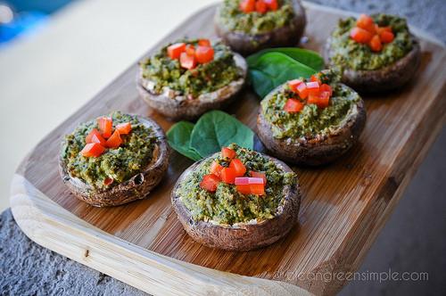 Vegan Stuffed Mushrooms Recipes  ve arian stuffed portobello mushroom recipe