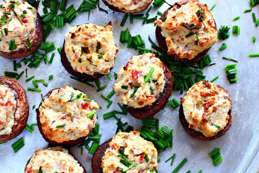 Vegan Stuffed Mushrooms Recipes  Football Food Vegan Stuffed Mushrooms