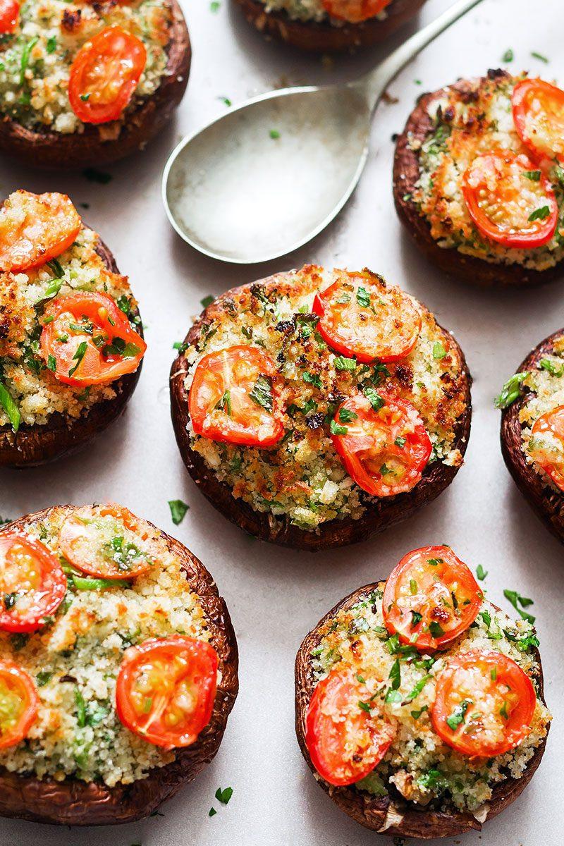 Vegan Stuffed Mushrooms Recipes  vegan stuffed mushroom recipes