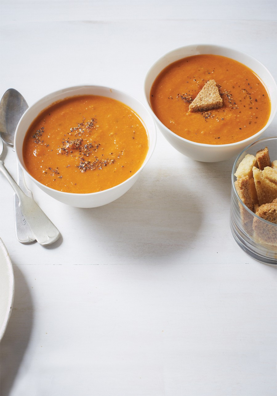 Vegan Tomato Soup  Homemade Ve arian Vegan Tomato Soup Recipe
