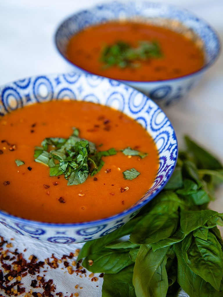 Vegan Tomato Soup  Vegan Curried Tomato Soup Healthy Food