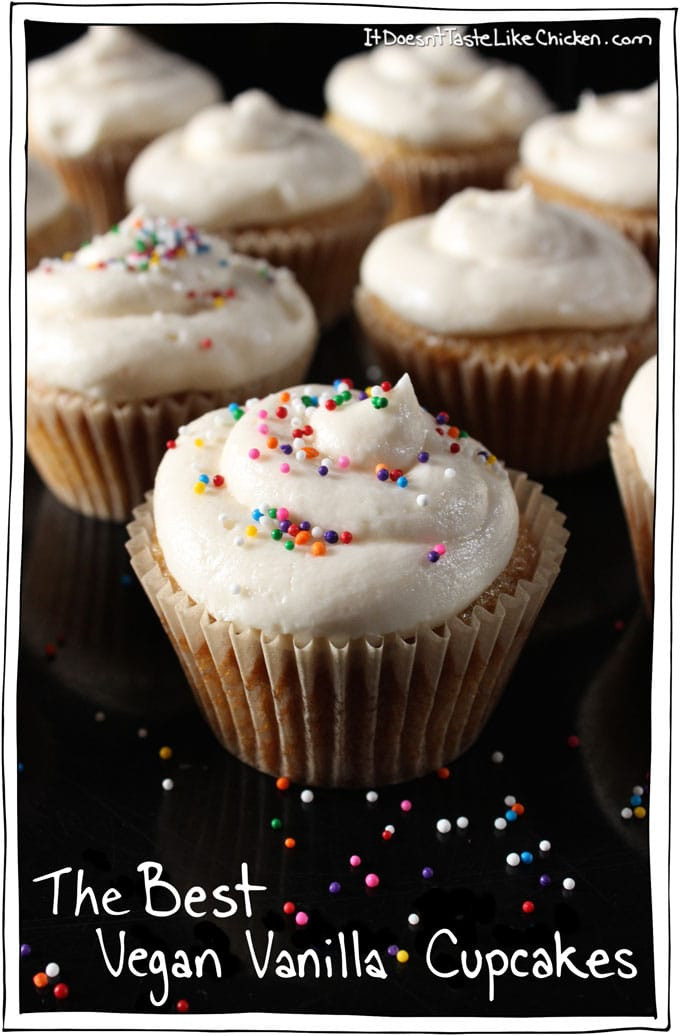 Vegan Vanilla Cupcakes  The Best Vegan Vanilla Cupcake it doesn t taste like chicken