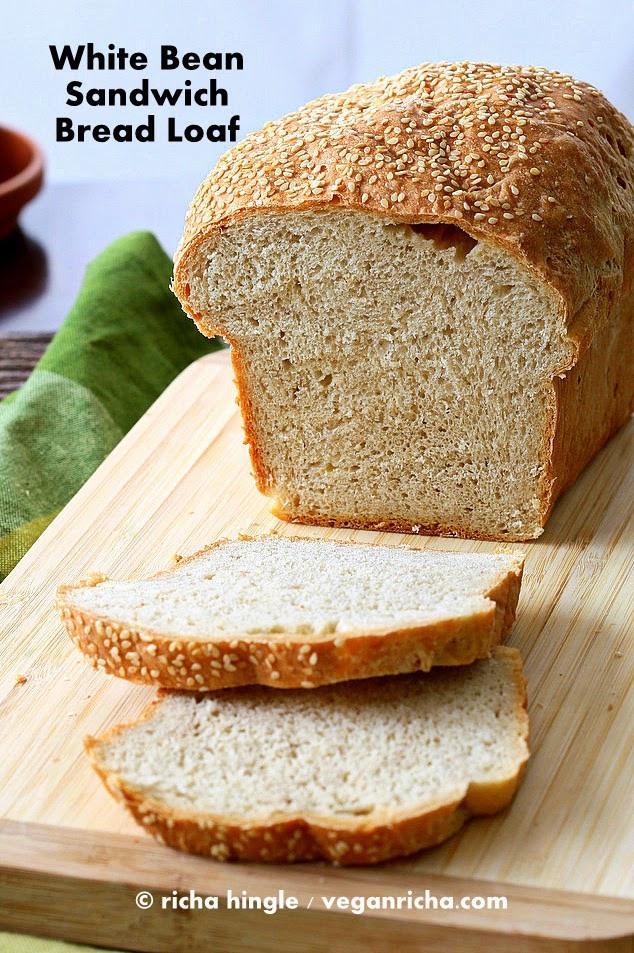 Vegan White Bread  White Bean Sandwich Bread Loaf Vegan Recipe Vegan Richa