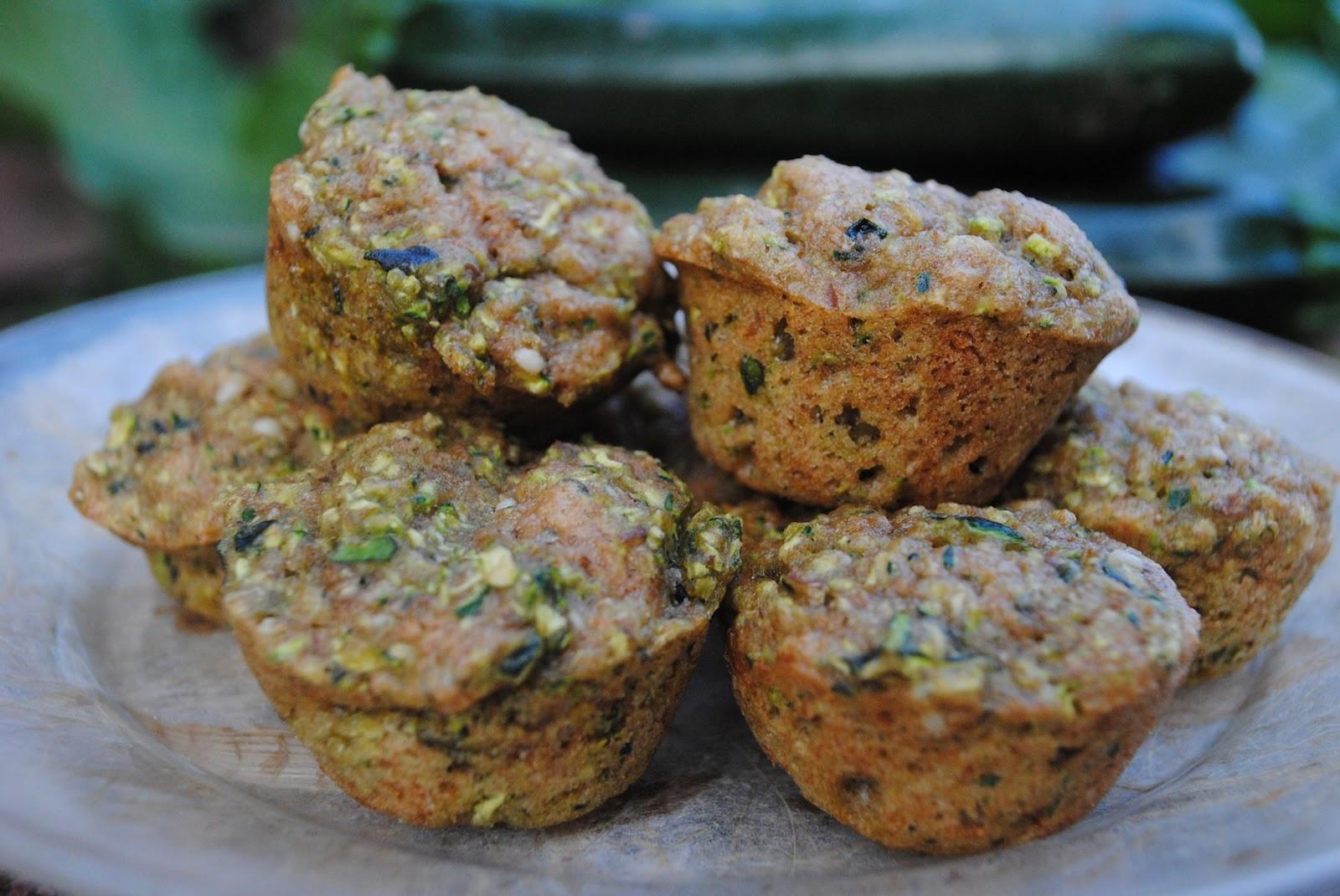 Vegan Zucchini Muffins  Vegan Zucchini Muffins Veggie Kids