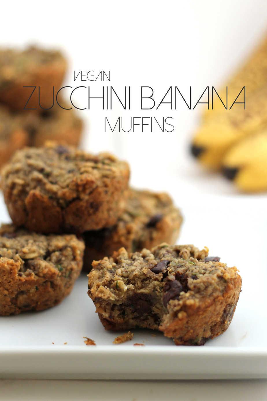 Vegan Zucchini Muffins  Vegan Zucchini Banana Chocolate Chip Muffins