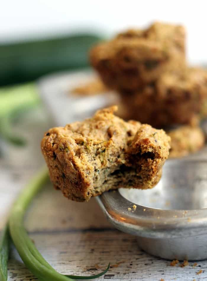 Vegan Zucchini Muffins  Savory Vegan Zucchini Muffins