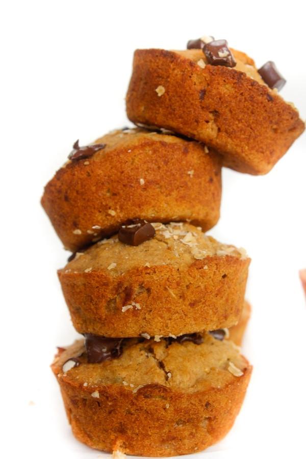Vegan Zucchini Muffins  Spiced Banana Zucchini Muffins GF Low FODMAP Vegan A