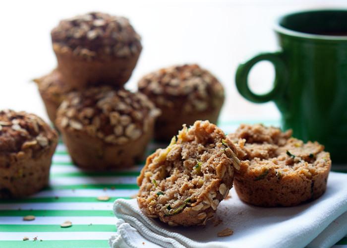Vegan Zucchini Muffins  Vegan Zucchini Applesauce Muffins Kitchen Treaty