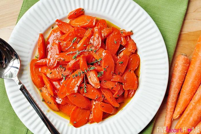 Vegetables For Easter Dinner  Honey Glazed Carrots with Thyme & Lemon
