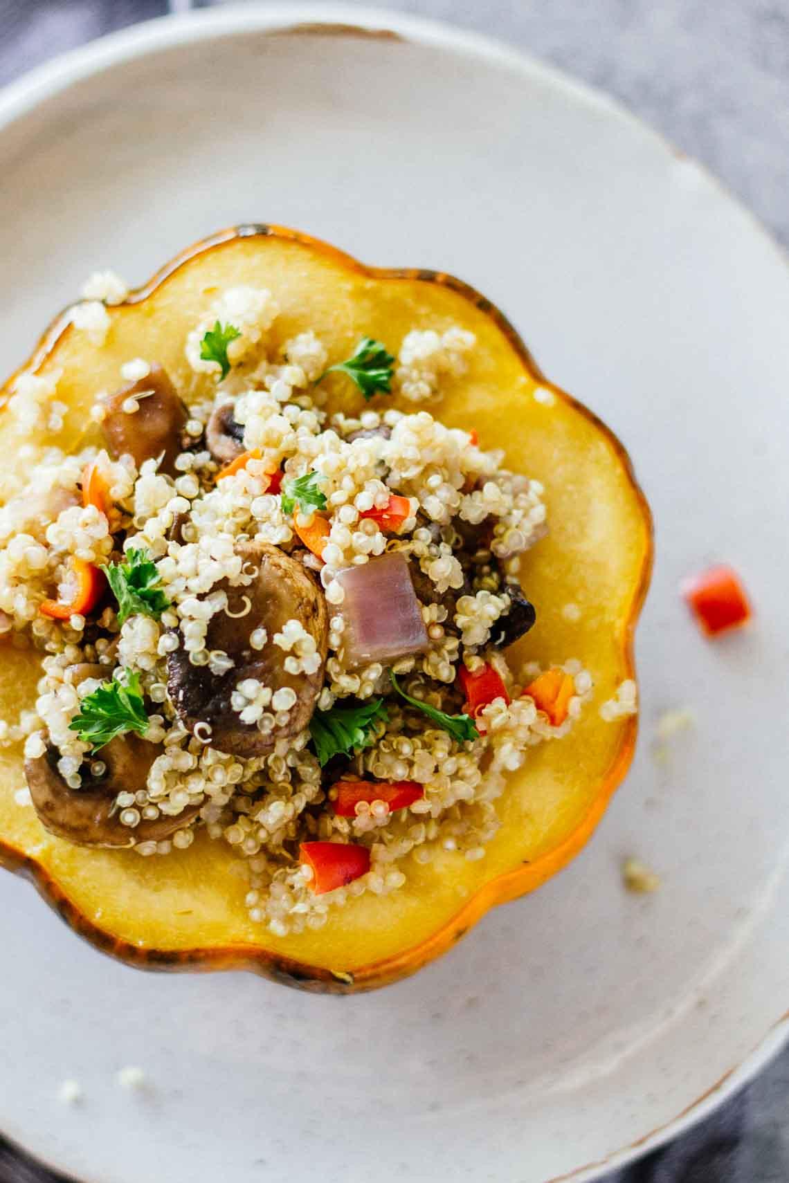 Vegetarian Acorn Squash Recipes  healthy vegan acorn squash recipes