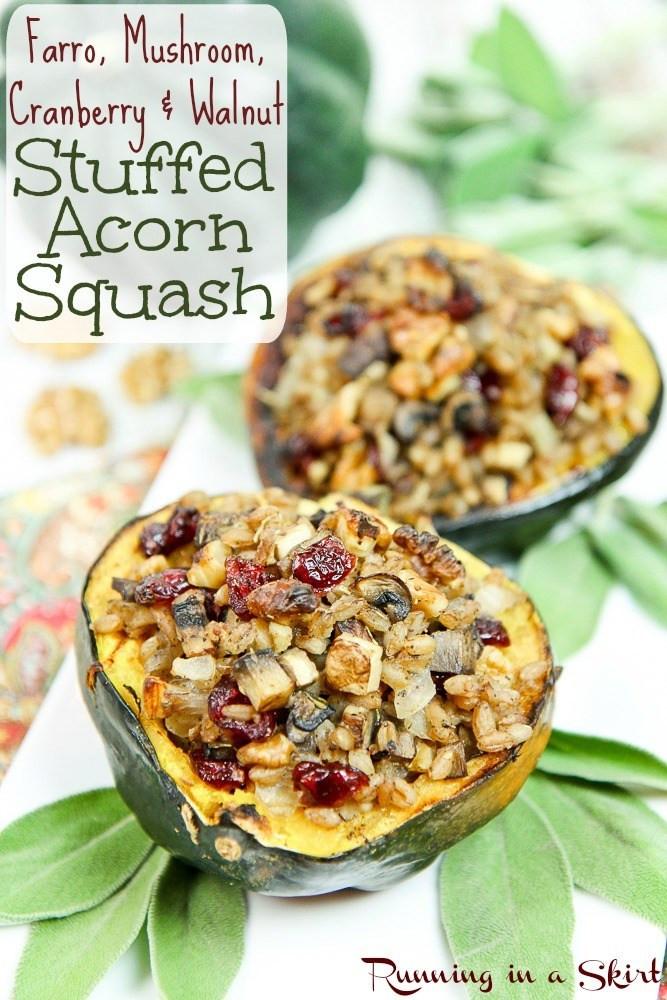 Vegetarian Acorn Squash Recipes  Ve arian Stuffed Acorn Squash recipe