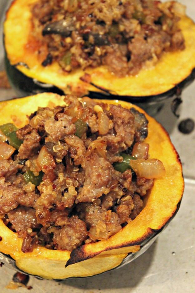Vegetarian Acorn Squash Recipes  Stuffed Acorn Squash Recipe Oysters & Pearls