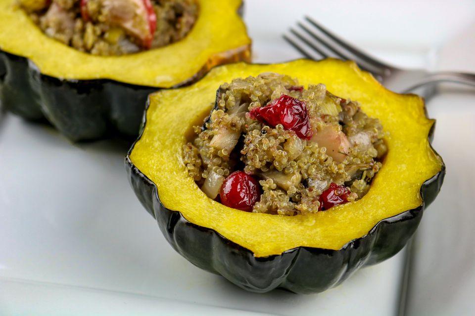 Vegetarian Acorn Squash Recipes  Vegan Quinoa Stuffed Acorn Squash Recipe