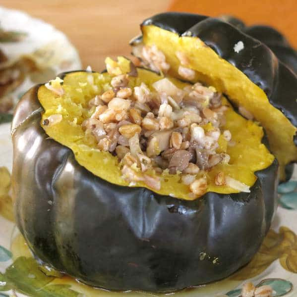 Vegetarian Acorn Squash Recipes  Ve arian Stuffed Acorn Squash with Farro The Dinner Mom