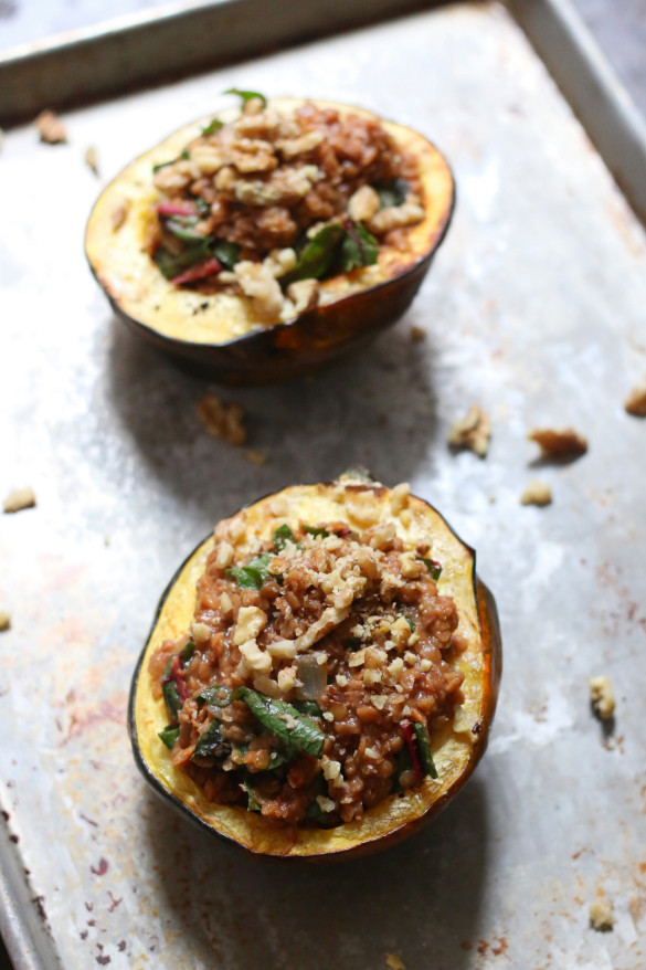 Vegetarian Acorn Squash Recipes  Vegan Red Lentil Stuffed Acorn Squash Recipe