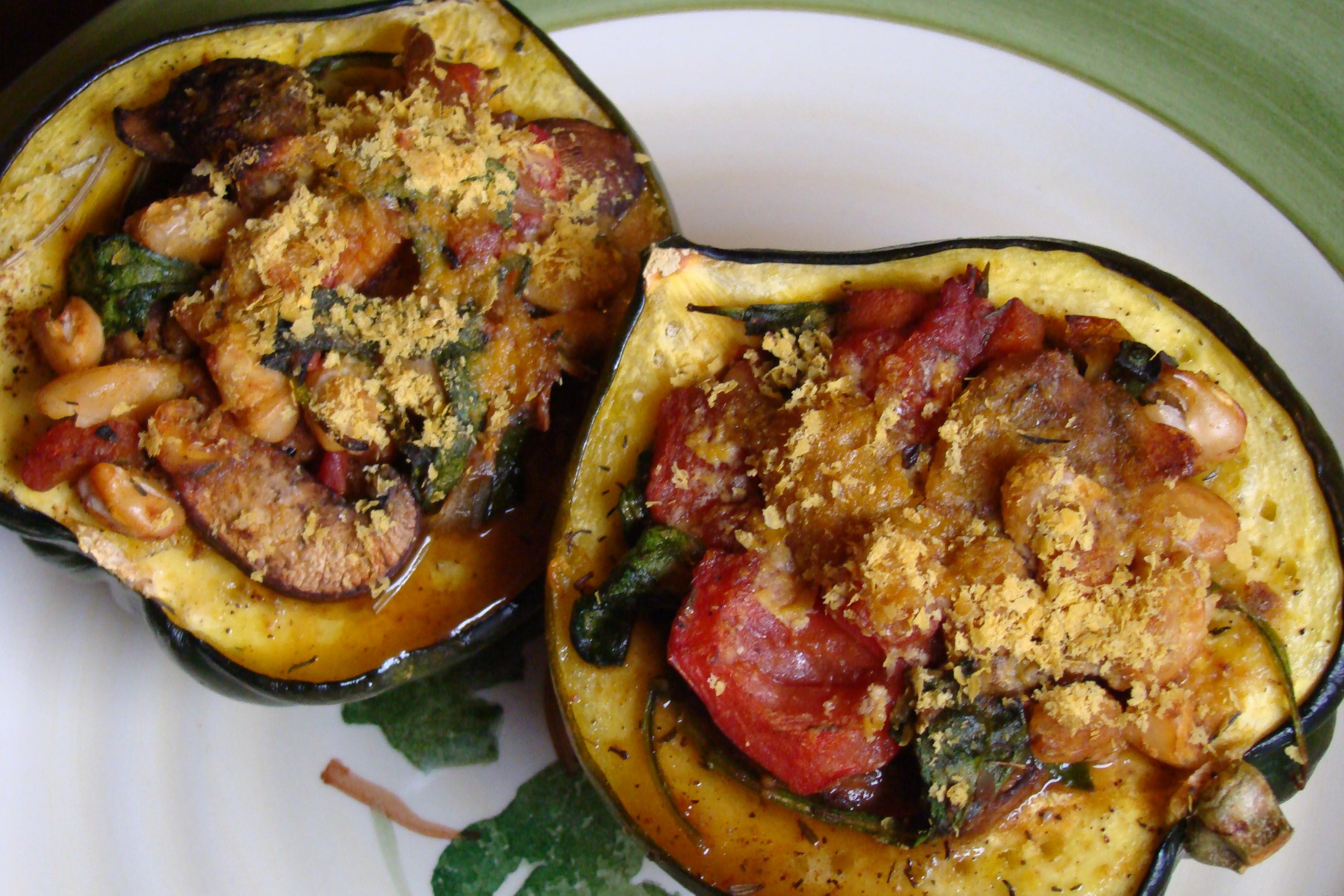 Vegetarian Acorn Squash Recipes  Vegan Stuffed Acorn Squash