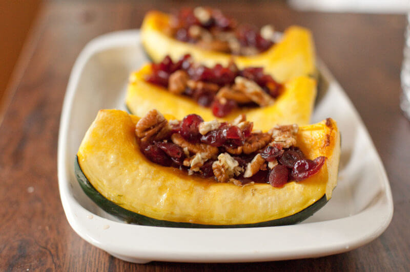 Vegetarian Acorn Squash Recipes  Ve arian Recipe for Stuffed Acorn Squash Eating Richly