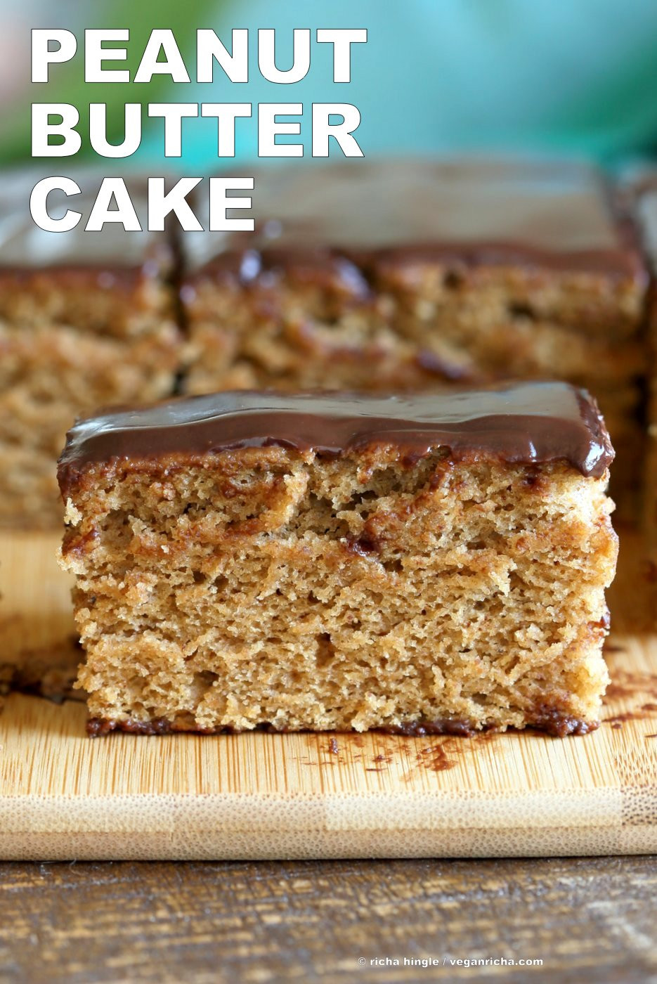 Vegetarian Baking Recipes  Vegan Peanut Butter Cake with Chocolate Peanut Butter