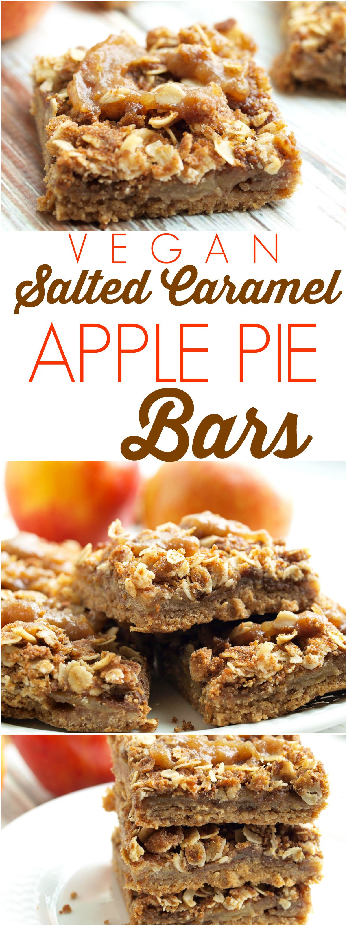 Vegetarian Baking Recipes  Vegan Salted Caramel Apple Pie Bars Happy Healthy Mama