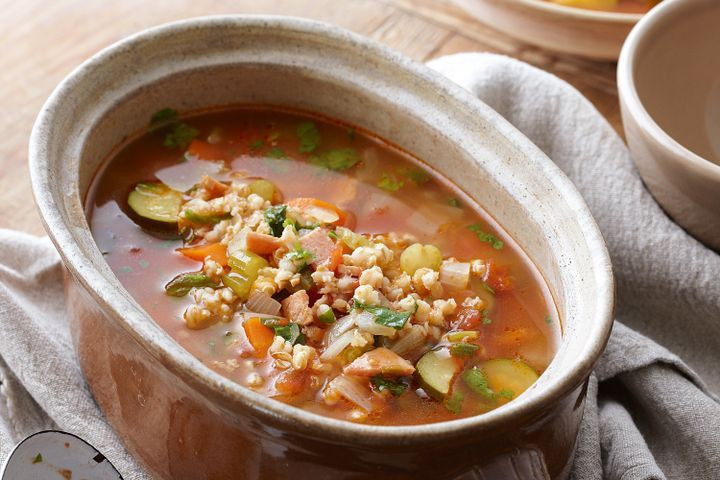 Vegetarian Barley Recipes  Ve able and barley soup