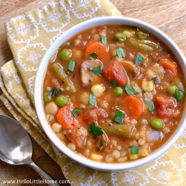 Vegetarian Barley Recipes  Ve able Barley Soup