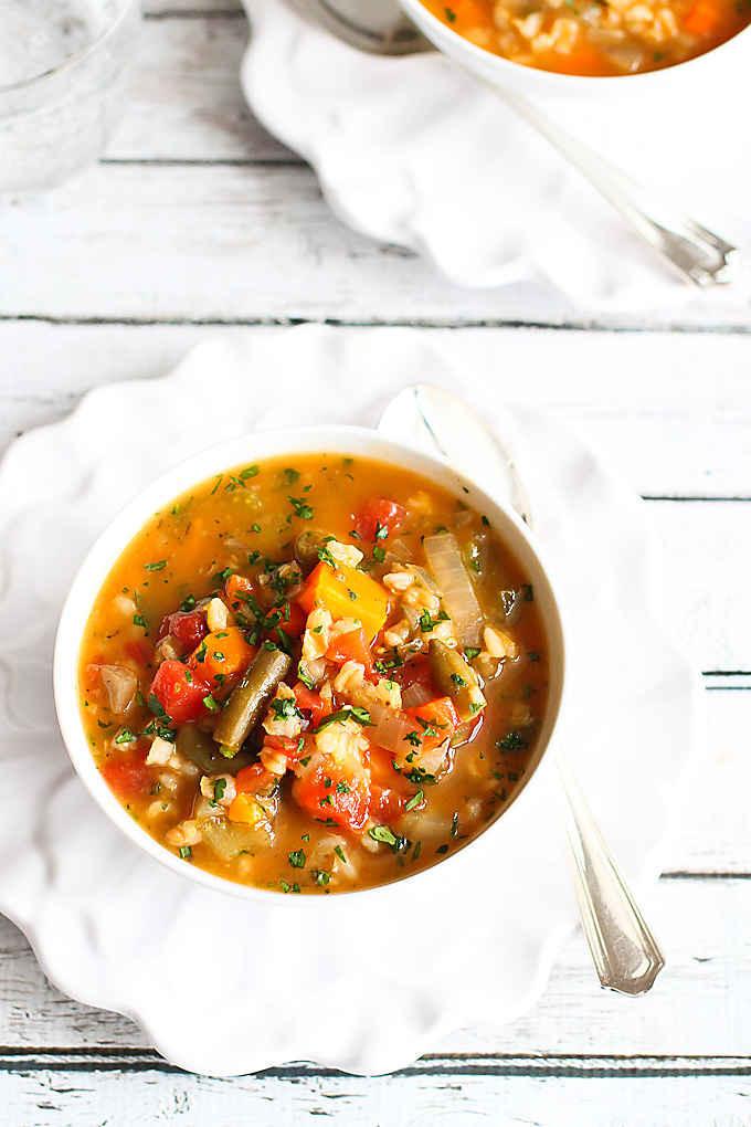 Vegetarian Barley Recipes  Slow Cooker Ve able Barley Soup Vegan Crockpot Recipe