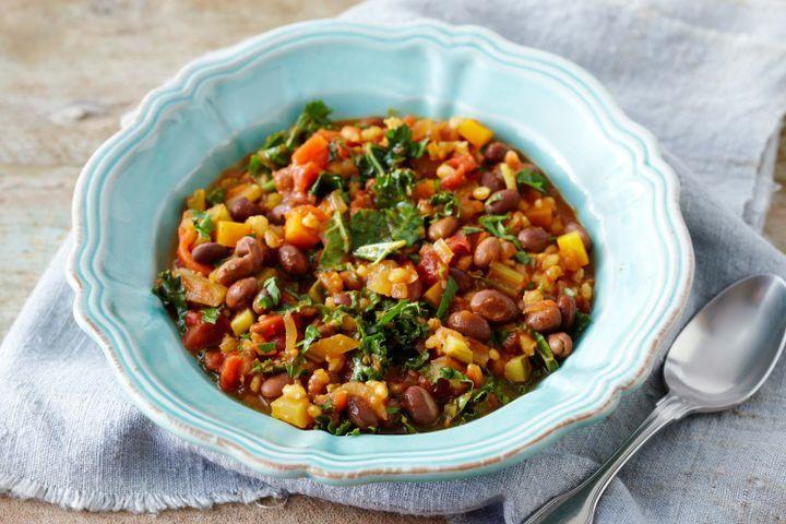 Vegetarian Barley Recipes  Pearl barley and smoked paprika minestrone soup