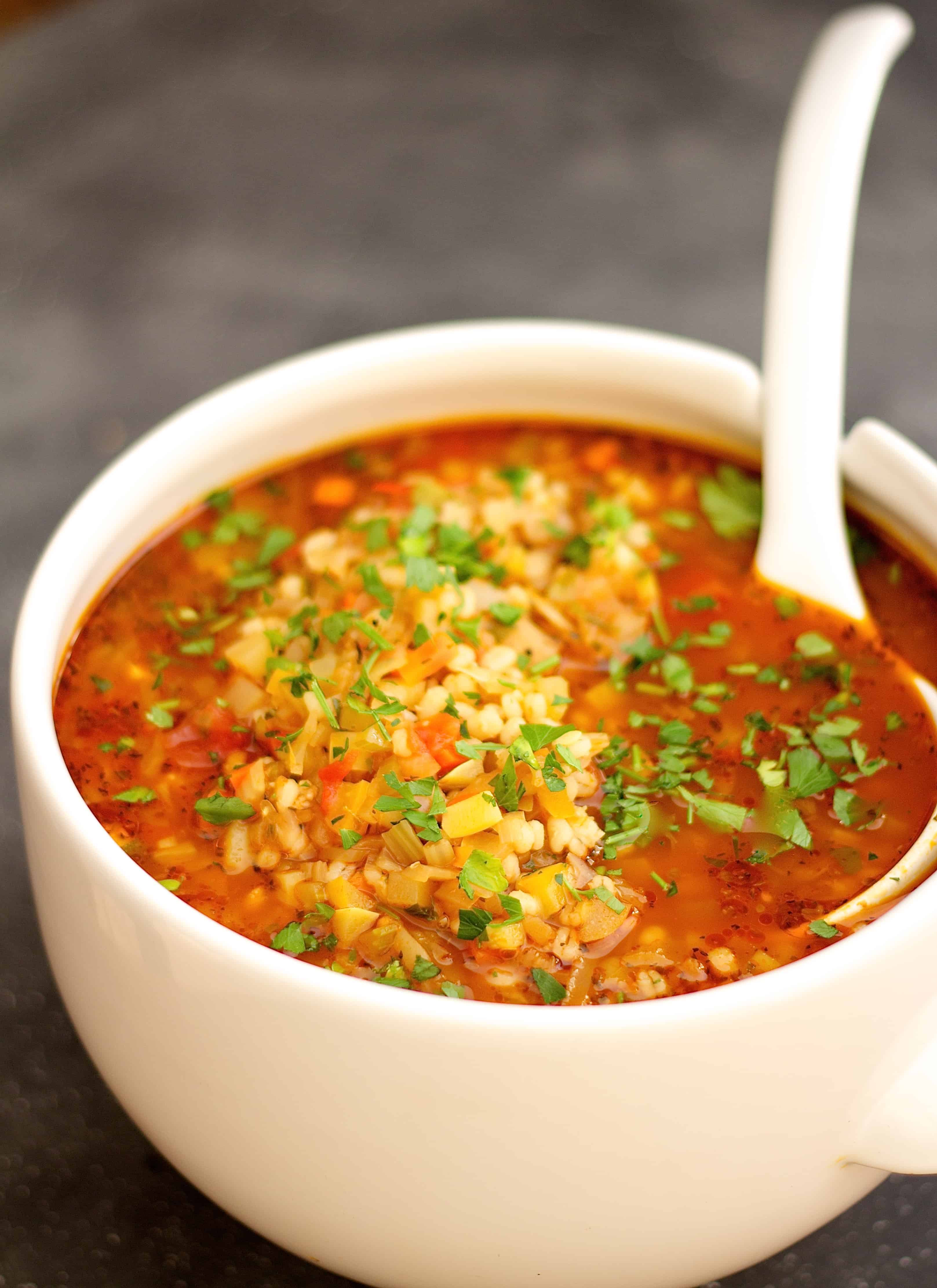 Vegetarian Barley Recipes  Ve able Barley Soup From A Chef s Kitchen