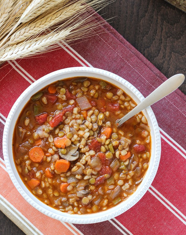 Vegetarian Barley Recipes  Vegan Lentil Barley Stew Making Thyme for Health
