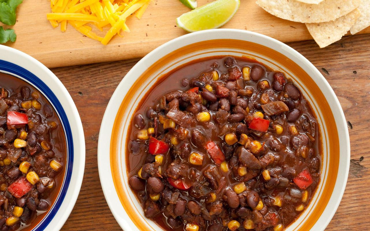 Vegetarian Black Bean Recipes  Pressure Cooker Vegan Black Bean Chili Best Ve arian
